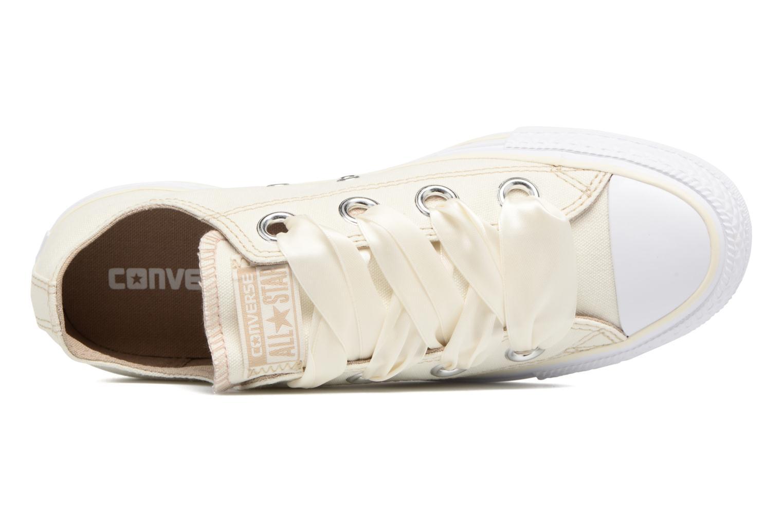Sneaker Converse Chuck Taylor All Star Big Eyelets Pastel Canvas Ox weiß ansicht von links