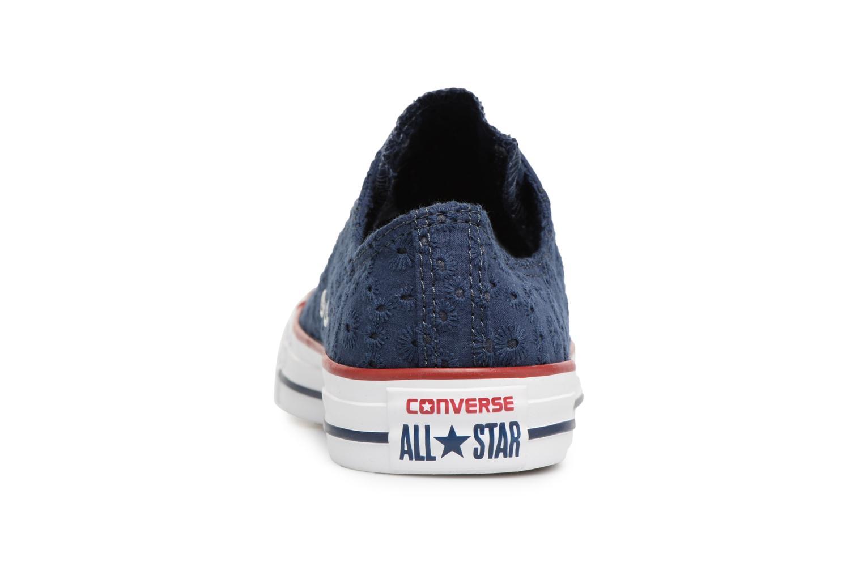 Baskets Converse Chuck Taylor All Star Ox 555979C Bleu vue droite