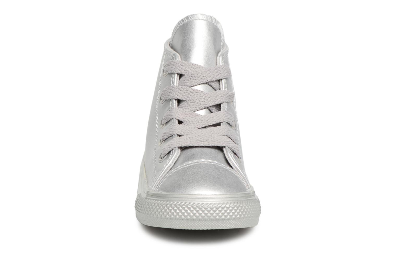 Baskets Converse CTAS HI Argent vue portées chaussures