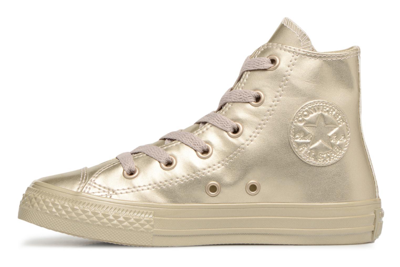 Baskets Converse Chuck Taylor All Star Metallic Or et bronze vue face