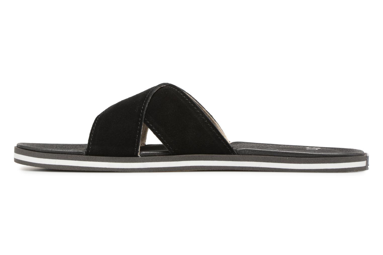 Sandales et nu-pieds UGG Beach Slide Noir vue face