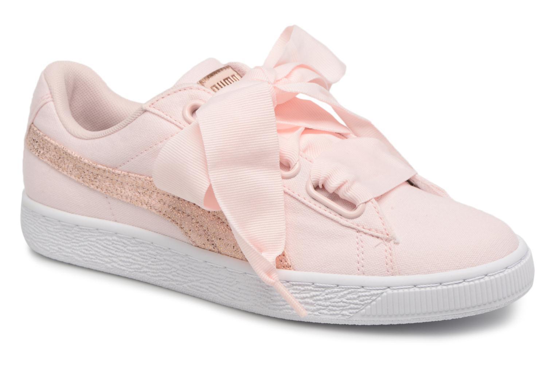 Zapatos promocionales Puma Basket Heart Canvas Wn's (Rosa) - Deportivas   Descuento de la marca
