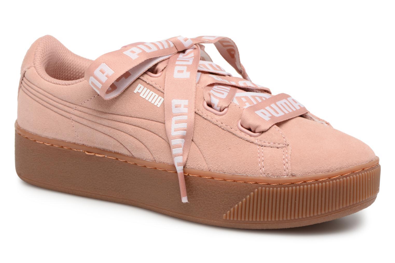 Zapatos promocionales Puma Puma Vikky Platform Ribbon Bold (Rosa) - Deportivas   Venta de liquidación de temporada