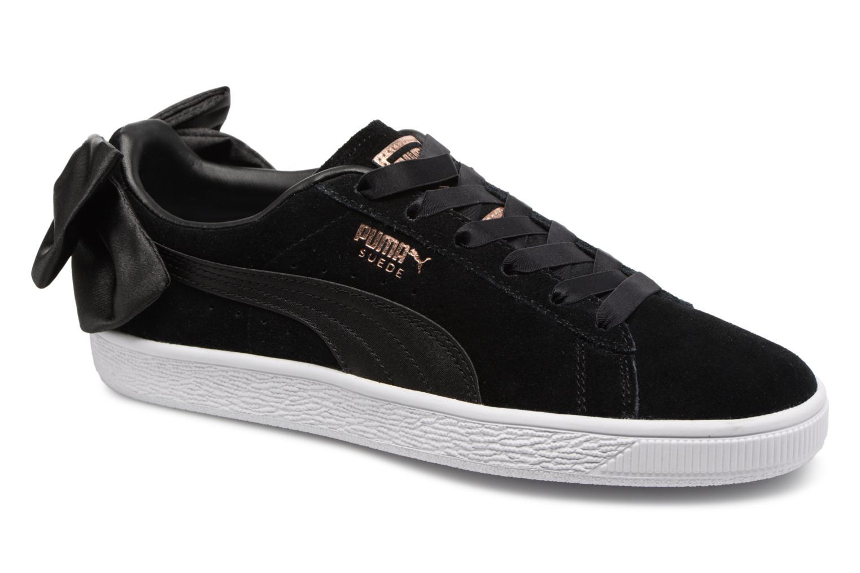 Zapatos promocionales Puma Suede Bow Wn's (Negro) - Deportivas   Cómodo y bien parecido