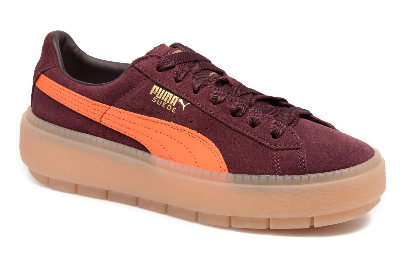Zapatos promocionales Puma Suede PlatformTraceBlockWn's (Vino) - Deportivas   Venta de liquidación de temporada