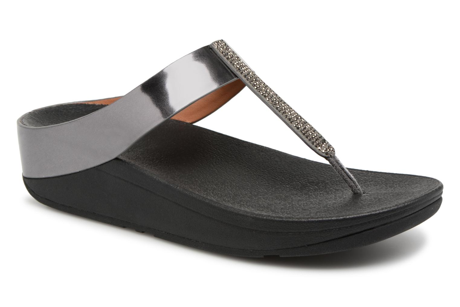 FitFlop Fino Crystal Toe Thong Pewter-Taille 40 cRC9oqMer