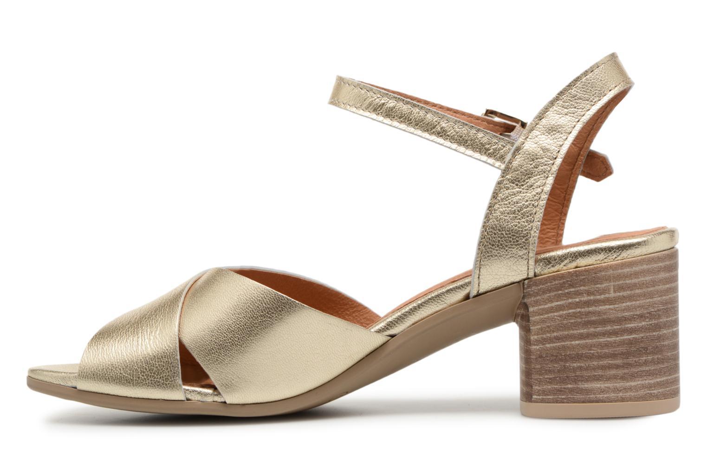 Sandales et nu-pieds Georgia Rose Semoria soft Or et bronze vue face