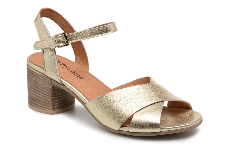 Sandales et nu-pieds Georgia Rose Semoria soft Or et bronze vue détail/paire