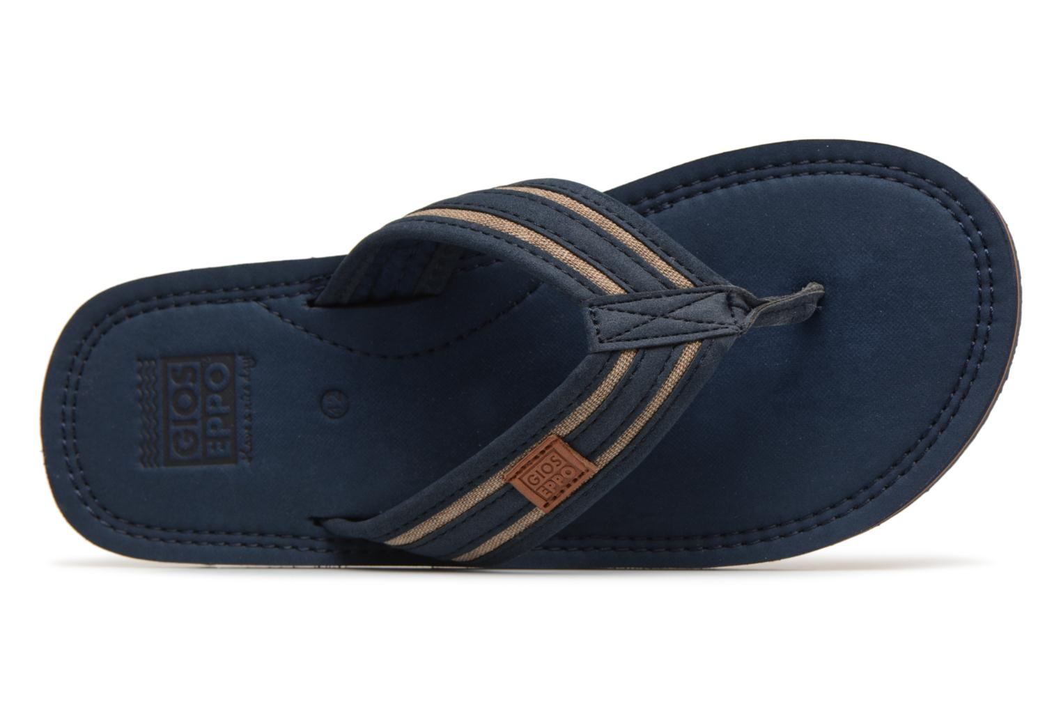 Flip flops Gioseppo PAPAYA Blue view from the left