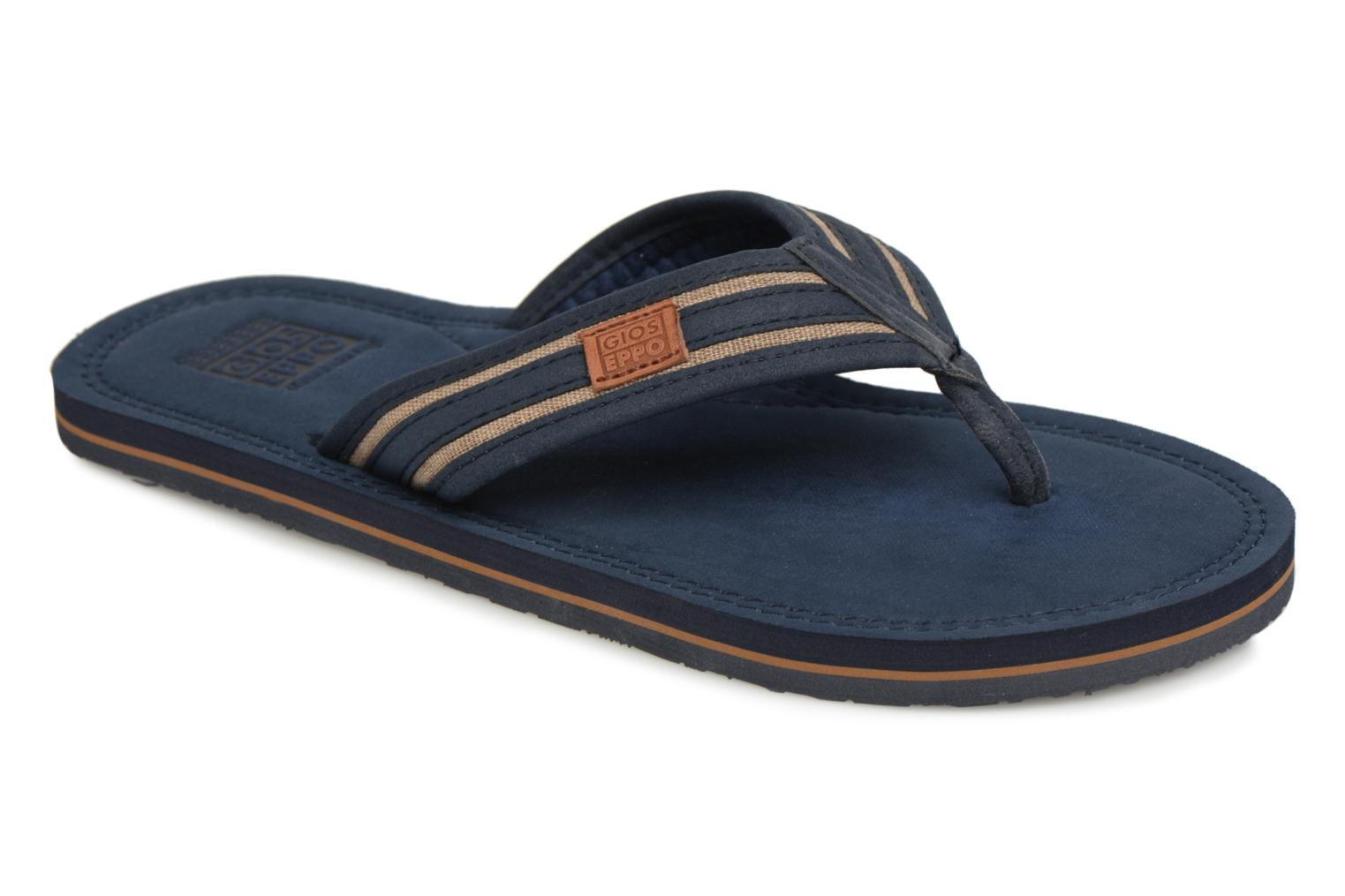 Flip flops Gioseppo PAPAYA Blue detailed view/ Pair view
