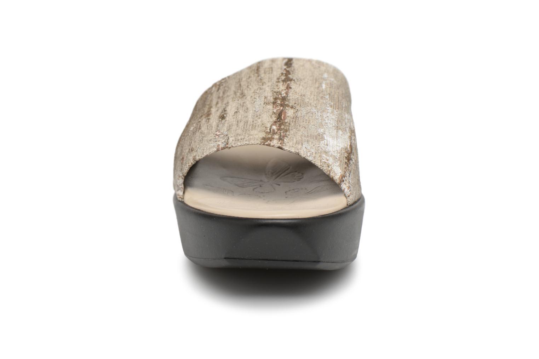Mules et sabots Elizabeth Stuart Vivi 252 Or et bronze vue portées chaussures