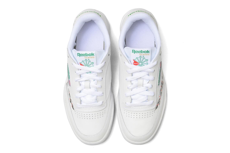 Baskets Reebok Reebok Club C 85 SARENZA x L'ENCRERIE Blanc vue portées chaussures