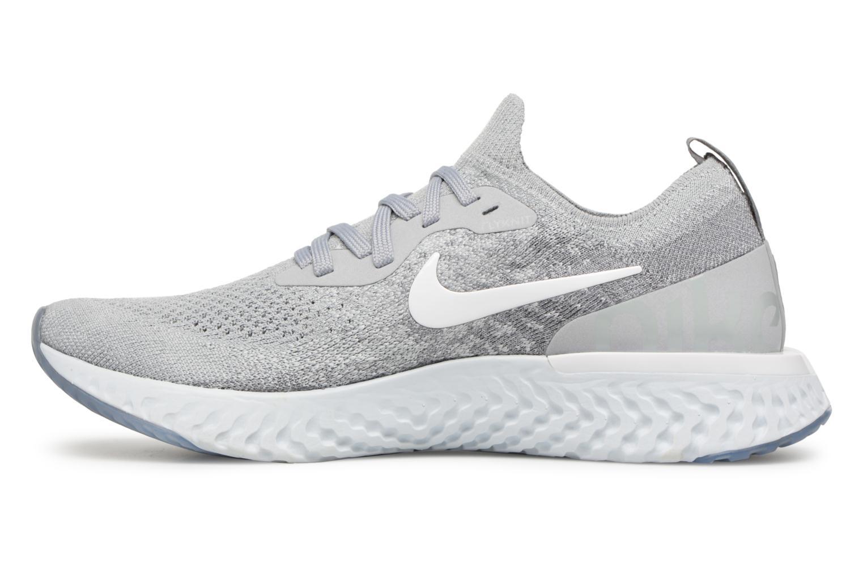 Chaussures de sport Nike Nike Epic React Flyknit (Gs) Gris vue face