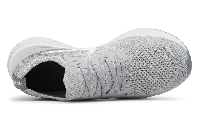 Chaussures de sport Nike Nike Epic React Flyknit (Gs) Gris vue gauche