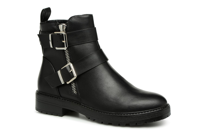 Zapatos casuales salvajes ONLY onlBAD BUCKLE PU BOOTIE (Negro) - Botines  en Más cómodo