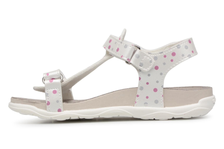 Sandales et nu-pieds Geox J S.ALOHA B J7214B Blanc vue face