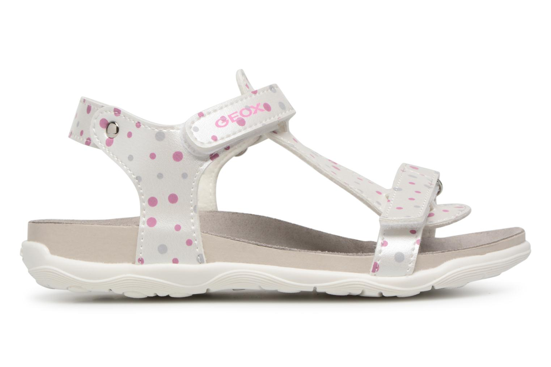 Sandales et nu-pieds Geox J S.ALOHA B J7214B Blanc vue derrière