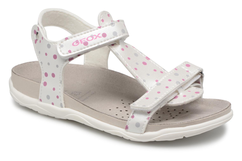 Sandales et nu-pieds Geox J S.ALOHA B J7214B Blanc vue détail/paire