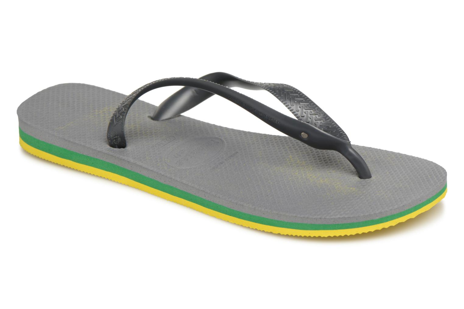 Marques Chaussure homme Havaianas homme Brasil Layers Steel Grey