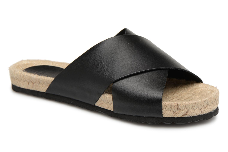 Zapatos promocionales Pieces MALLY LEATHER SANDAL (Negro) - Zuecos   Cómodo y bien parecido
