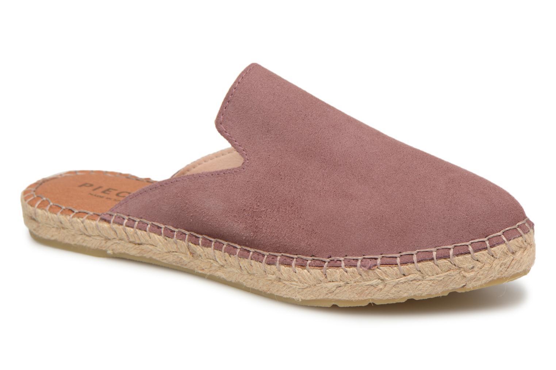 Grandes descuentos últimos zapatos Pieces MOLIN SUEDE ESPADRILLE MULE (Violeta     ) - Zuecos Descuento