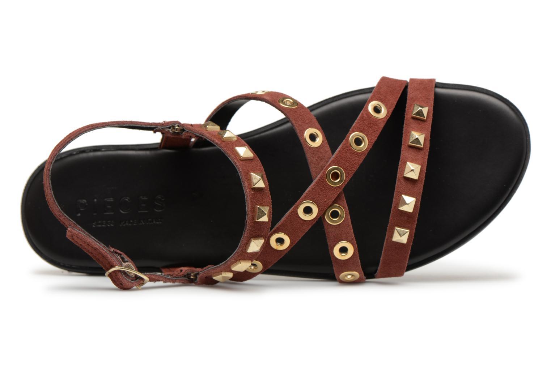 Zapatos promocionales Pieces NANTALE SUEDE SANDAL (Vino) - Sandalias   Los últimos zapatos de descuento para hombres y mujeres