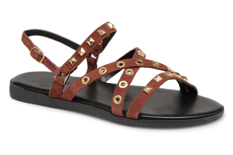 Grandes descuentos últimos zapatos Pieces NANTALE SUEDE SANDAL (Vino) - Sandalias Descuento