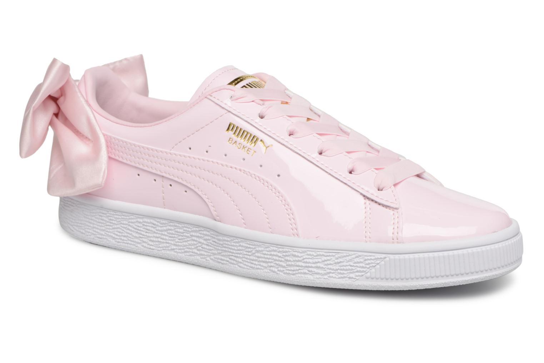 Zapatos de mujer baratos zapatos de mujer Puma Basket Bow Patent (Rosa) - Deportivas en Más cómodo