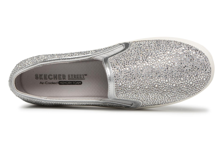 Zapatos cómodos y versátiles Skechers Double Up Glitzy Gal (Plateado) - Deportivas en Más cómodo