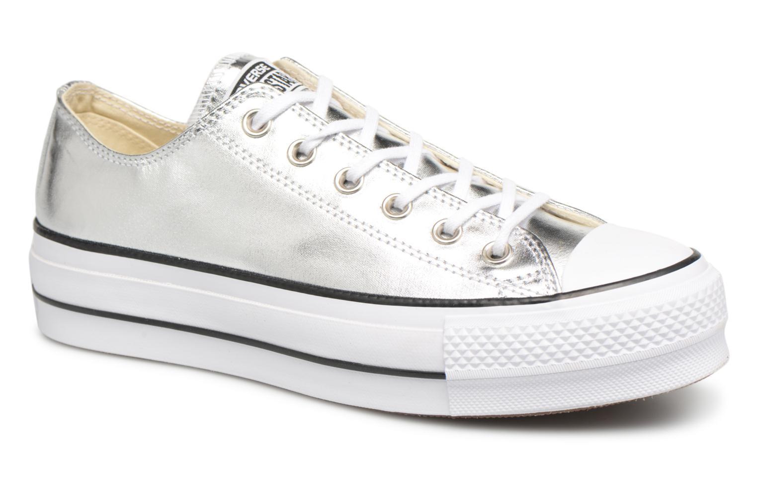 Zapatos especiales para hombres y mujeres Converse Chuck Taylor Lift Ox (Plateado) - Deportivas en Más cómodo