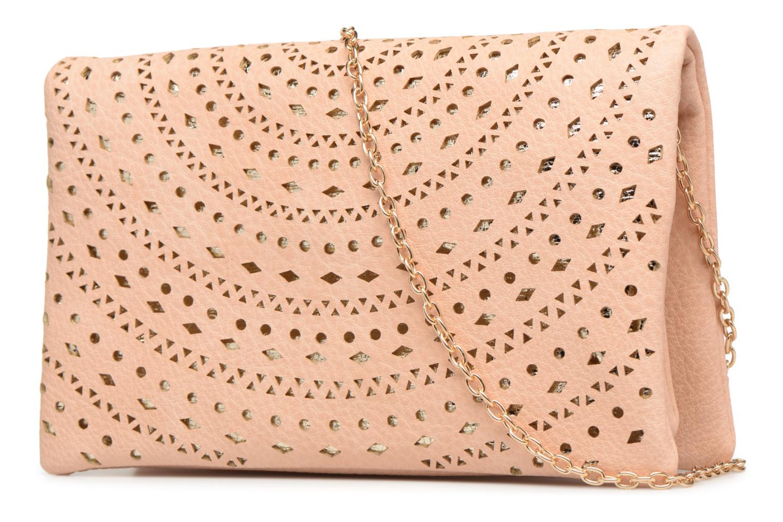 Handtaschen Street Level Perforated crossbody beige ansicht von rechts