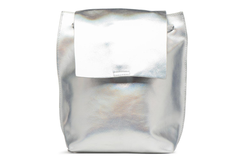 Rugzakken Street Level Slouch thin strap backpack Zilver detail