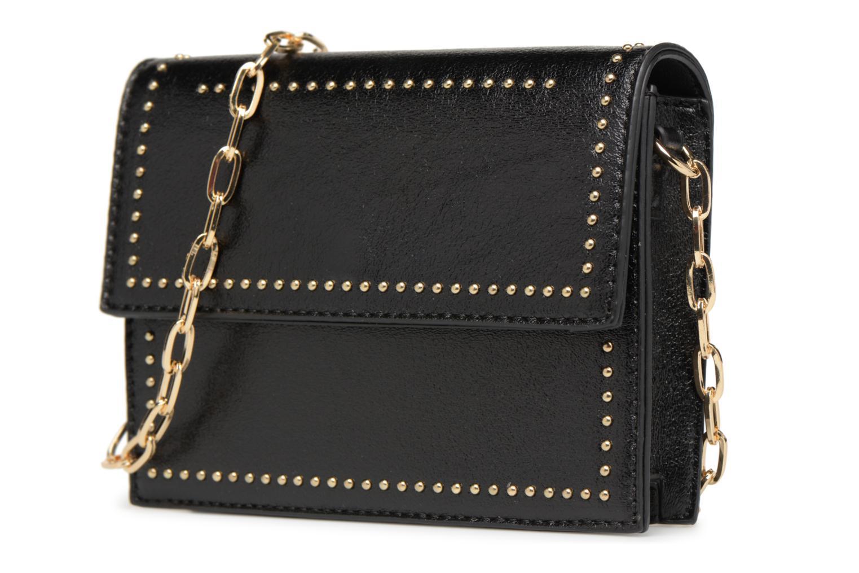 Handtaschen Street Level Mettalic chainstrap crossbody schwarz schuhe getragen