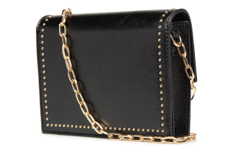 Handtaschen Street Level Mettalic chainstrap crossbody schwarz ansicht von rechts