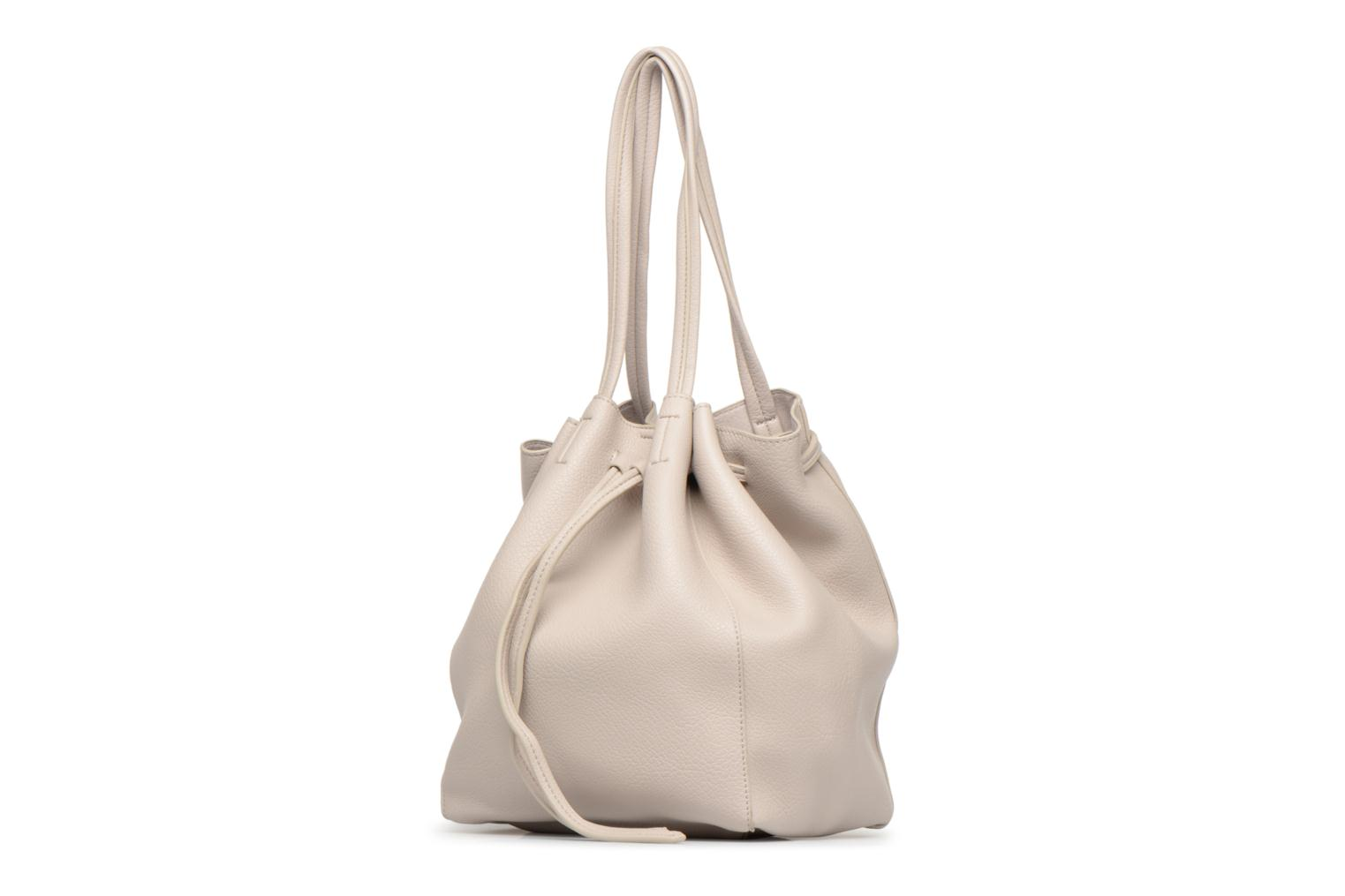 Sacs à main Street Level Tote with front tassel drawstring Gris vue portées chaussures