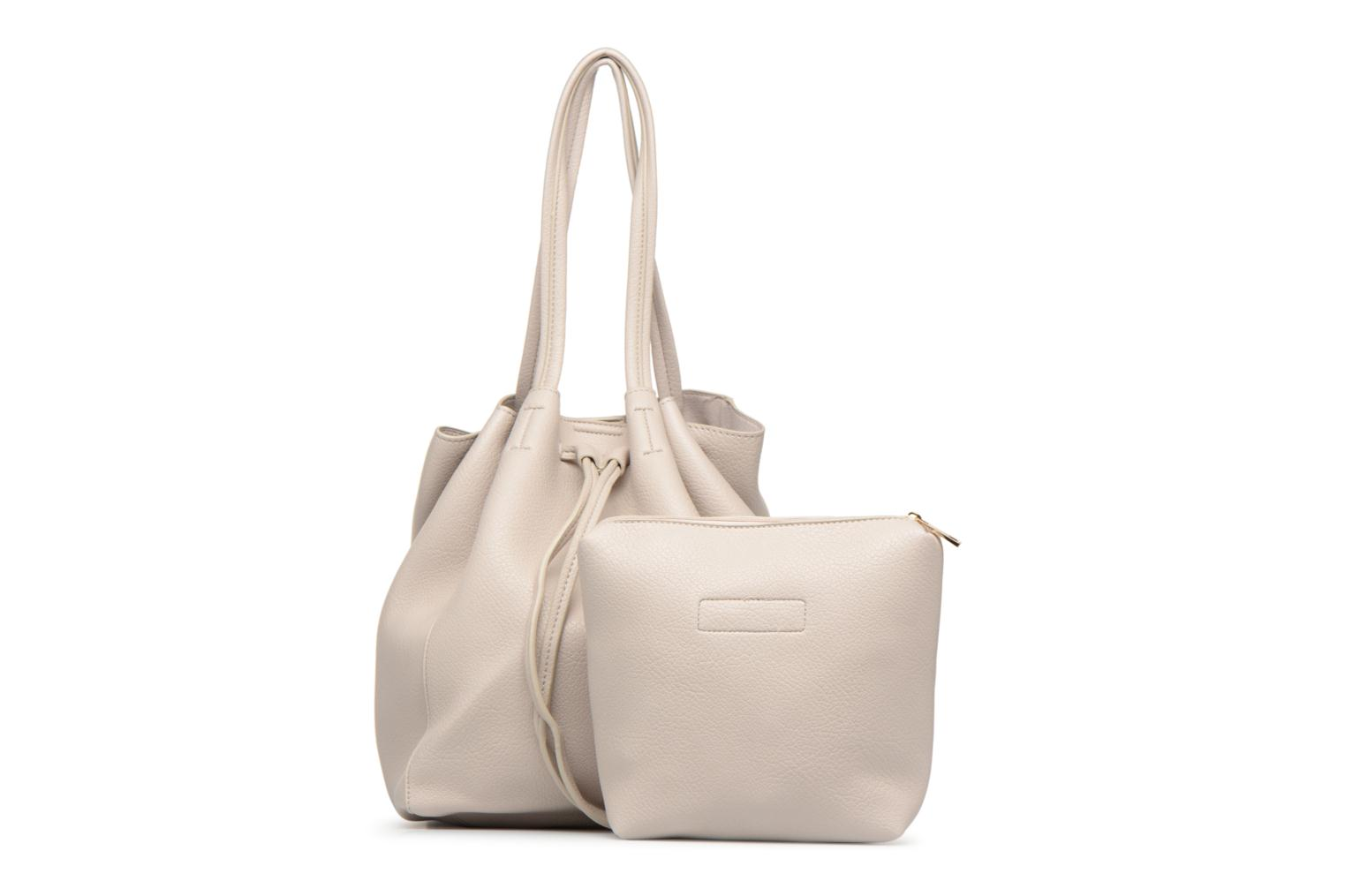 Sacs à main Street Level Tote with front tassel drawstring Gris vue gauche