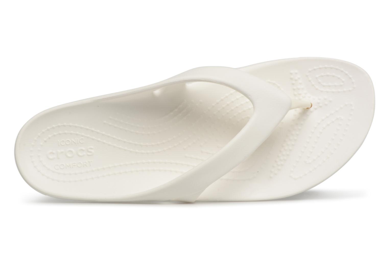 Tongs Crocs KadeeIIFlipW Blanc vue gauche