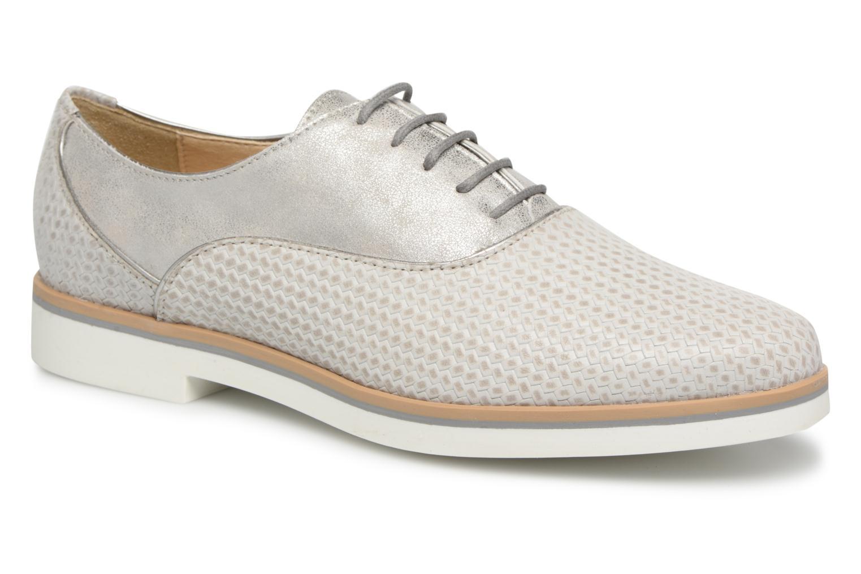 Grandes descuentos últimos zapatos Geox D JANALEE A (Gris) - Zapatos con cordones Descuento