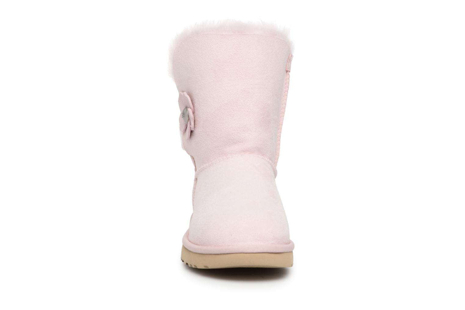 Bottes UGG Bailey Button Poppy Rose vue portées chaussures
