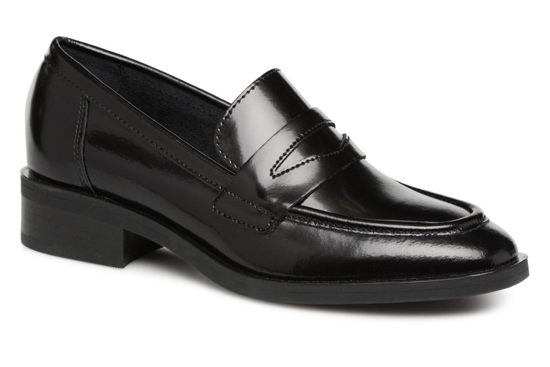 Zapatos promocionales Pieces MOCASSIN CUIR (Negro) - Mocasines   Descuento de la marca