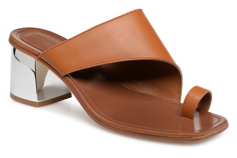 Zapatos promocionales Sigerson Morrison Mule asymétroque talon bold (Marrón) - Zuecos   Cómodo y bien parecido