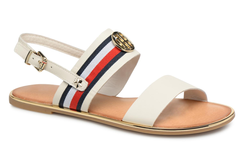 Zapatos promocionales Tommy Hilfiger Nu pieds White (Blanco) - Sandalias   Venta de liquidación de temporada