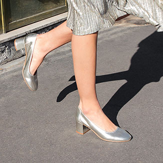 Chaussures or et argent
